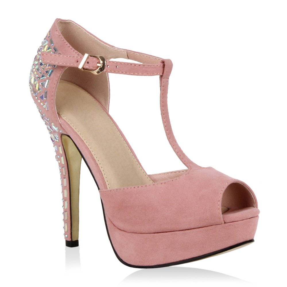 Damen Pumps Peeptoes - Rosa - Claysburg