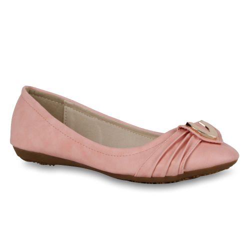 Damen Ballerinas Klassische Ballerinas - Rosa - Litchfield