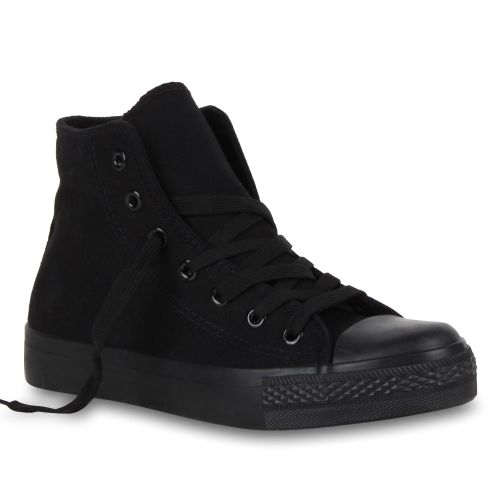Damen Sneaker high - Schwarz Basic