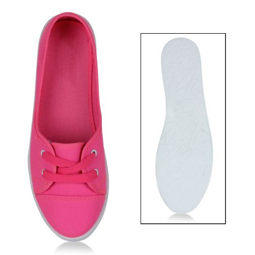 Damen Sportliche Ballerinas - Neon Pink