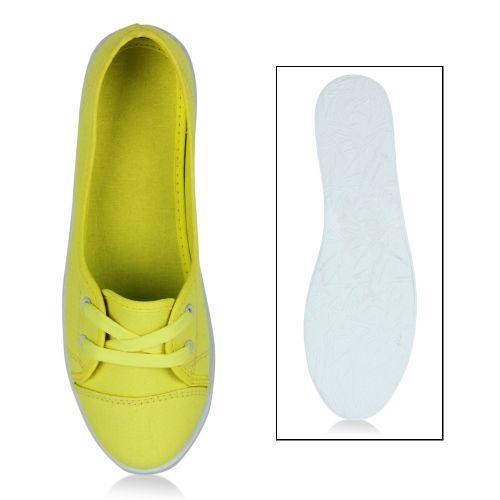 Damen Sportliche Ballerinas - Neon Gelb