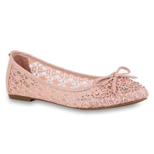 Damen Ballerinas Klassische Ballerinas - Rosa - Ellsworth