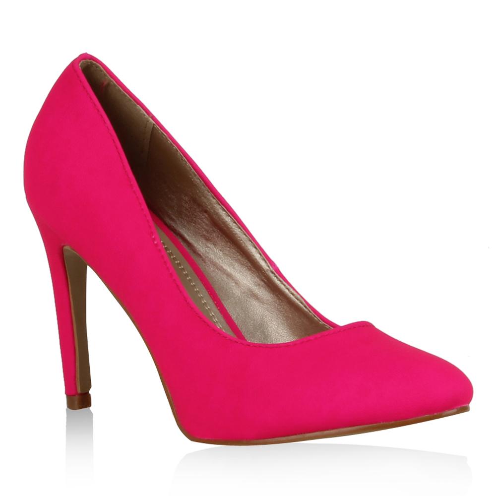 Damen Pumps High Heels - Neonpink
