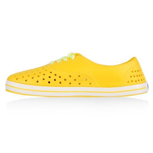 Damen Badeschuhe Badesandalen - Gelb