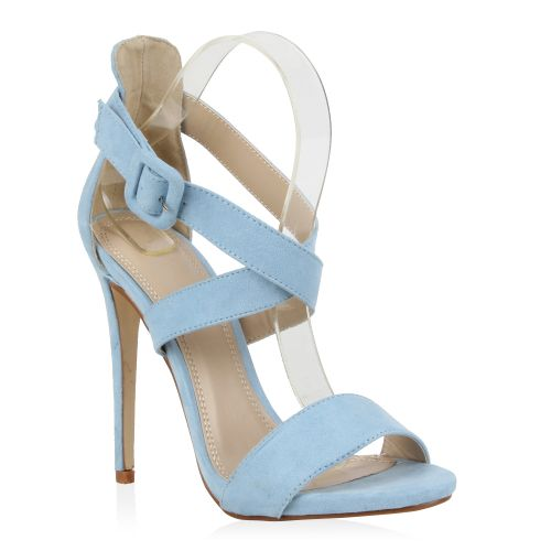 hellblaue high heels