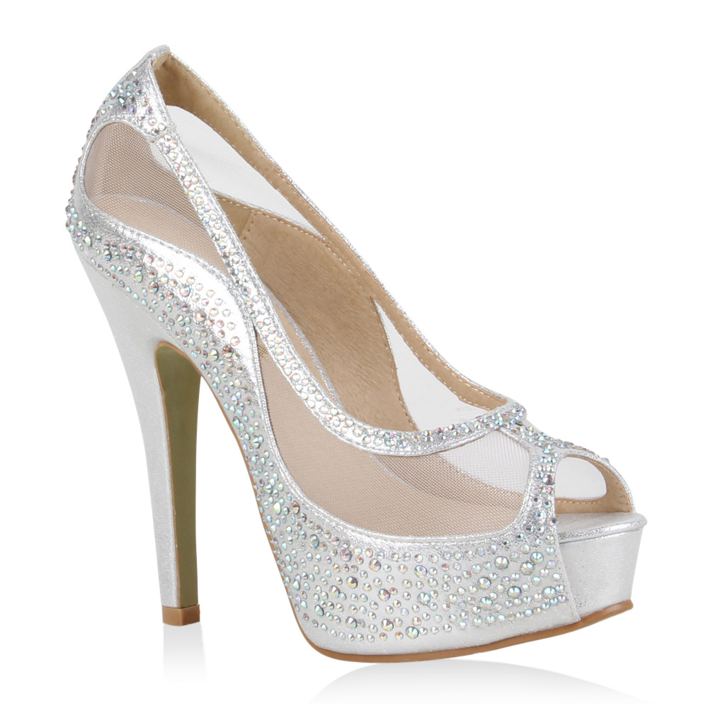 Damen Pumps Plateau Pumps - Silber