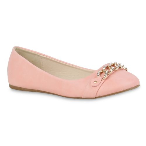 Damen Ballerinas Klassische Ballerinas - Rosa - Quitman