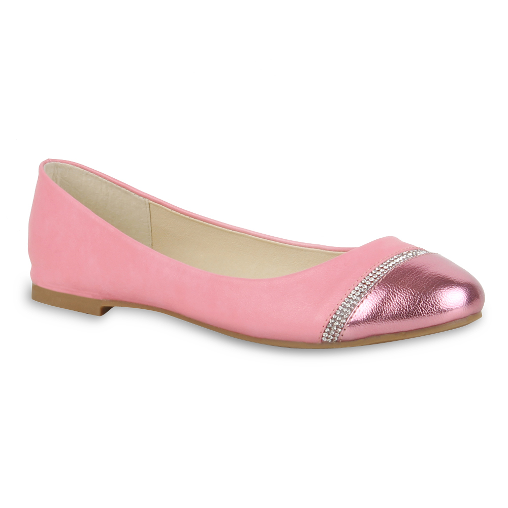 Damen Ballerinas Klassische Ballerinas - Rosa - Hampden