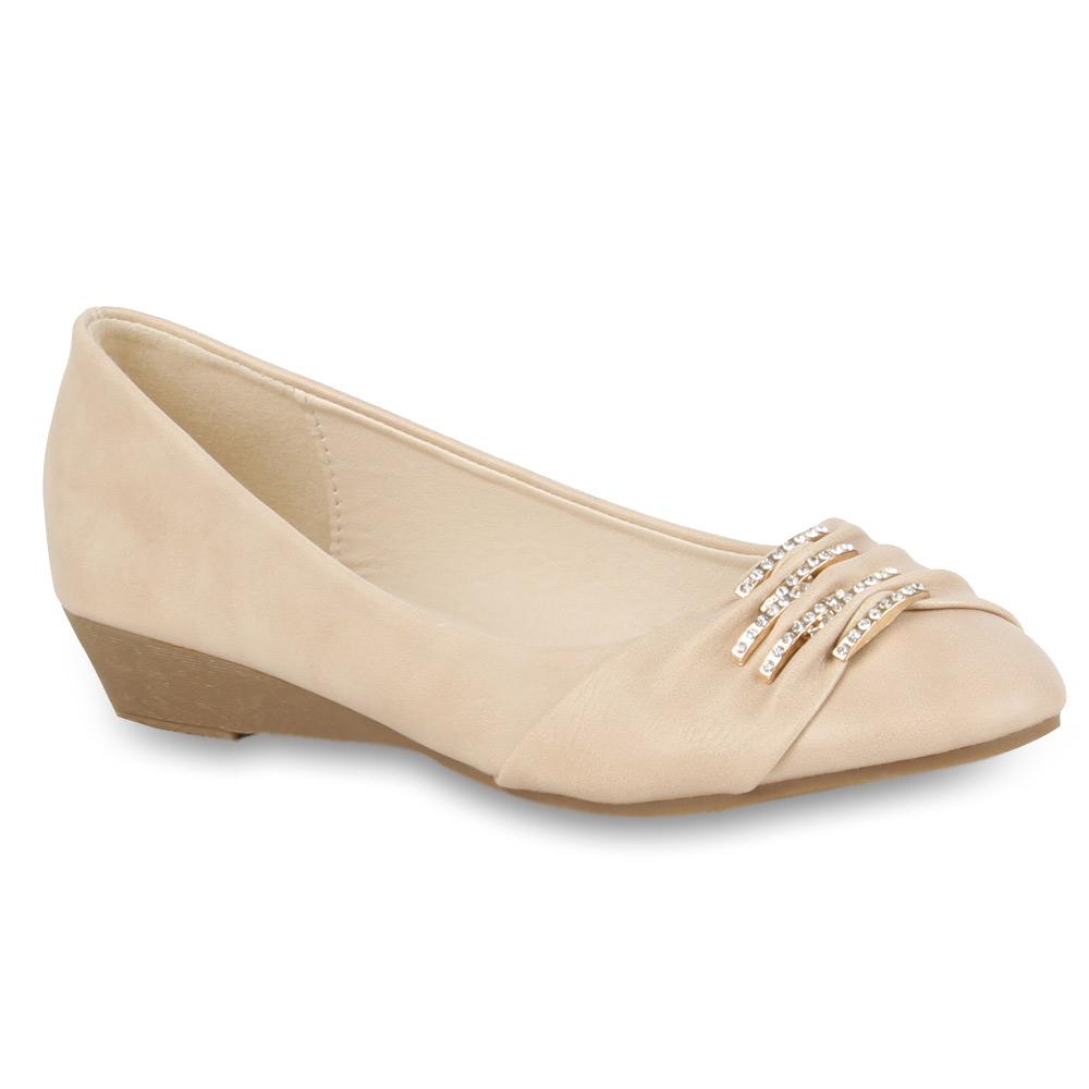 Damen Ballerinas Klassische Ballerinas - Beige