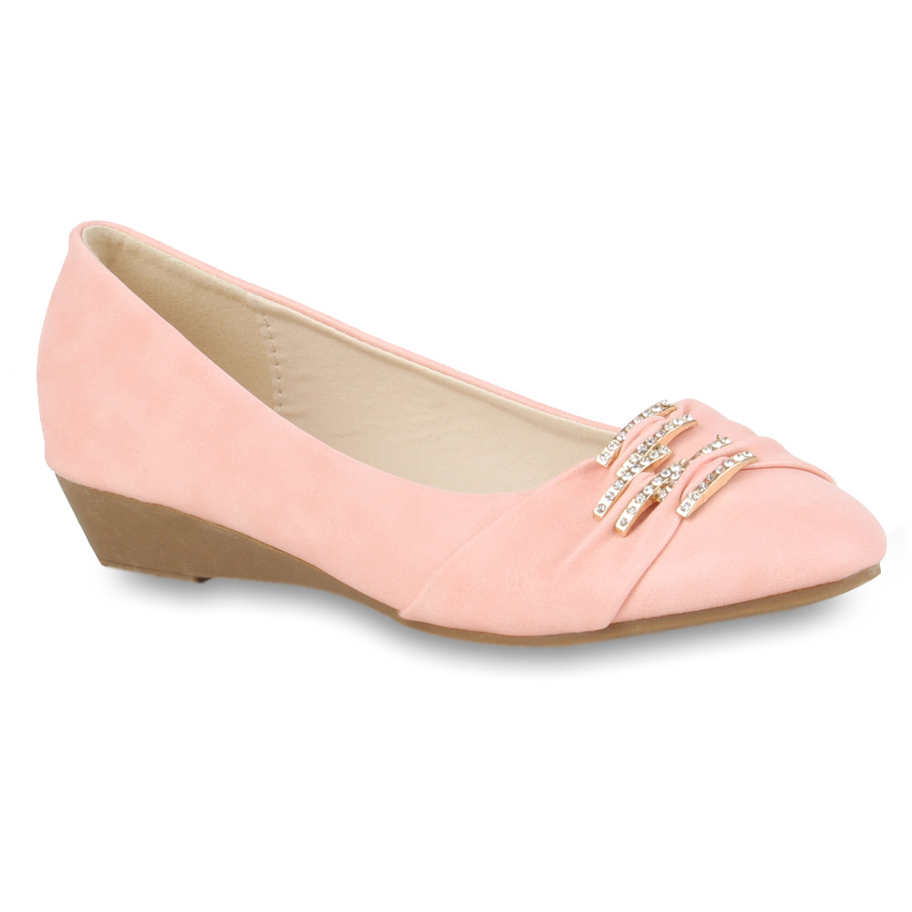 Damen Ballerinas Klassische Ballerinas - Rosa - Pinehill
