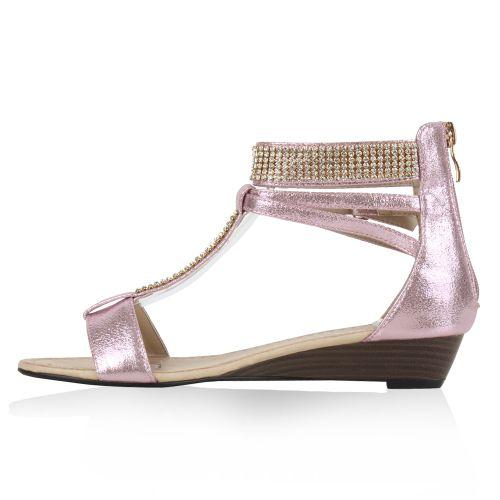Damen Sandaletten Schaft Sandaletten - Rosa - Algarve