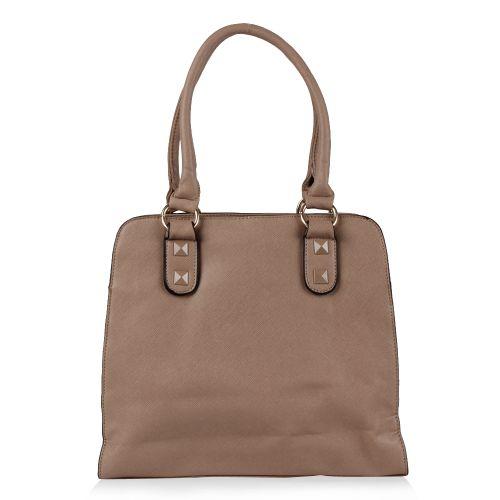 Damen Schulter Tasche - Apricot
