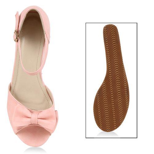 Damen Sandaletten Keil Sandaletten - Rosa - Moeche
