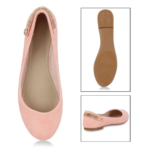 Damen Ballerinas Klassische Ballerinas - Rosa - Conklin