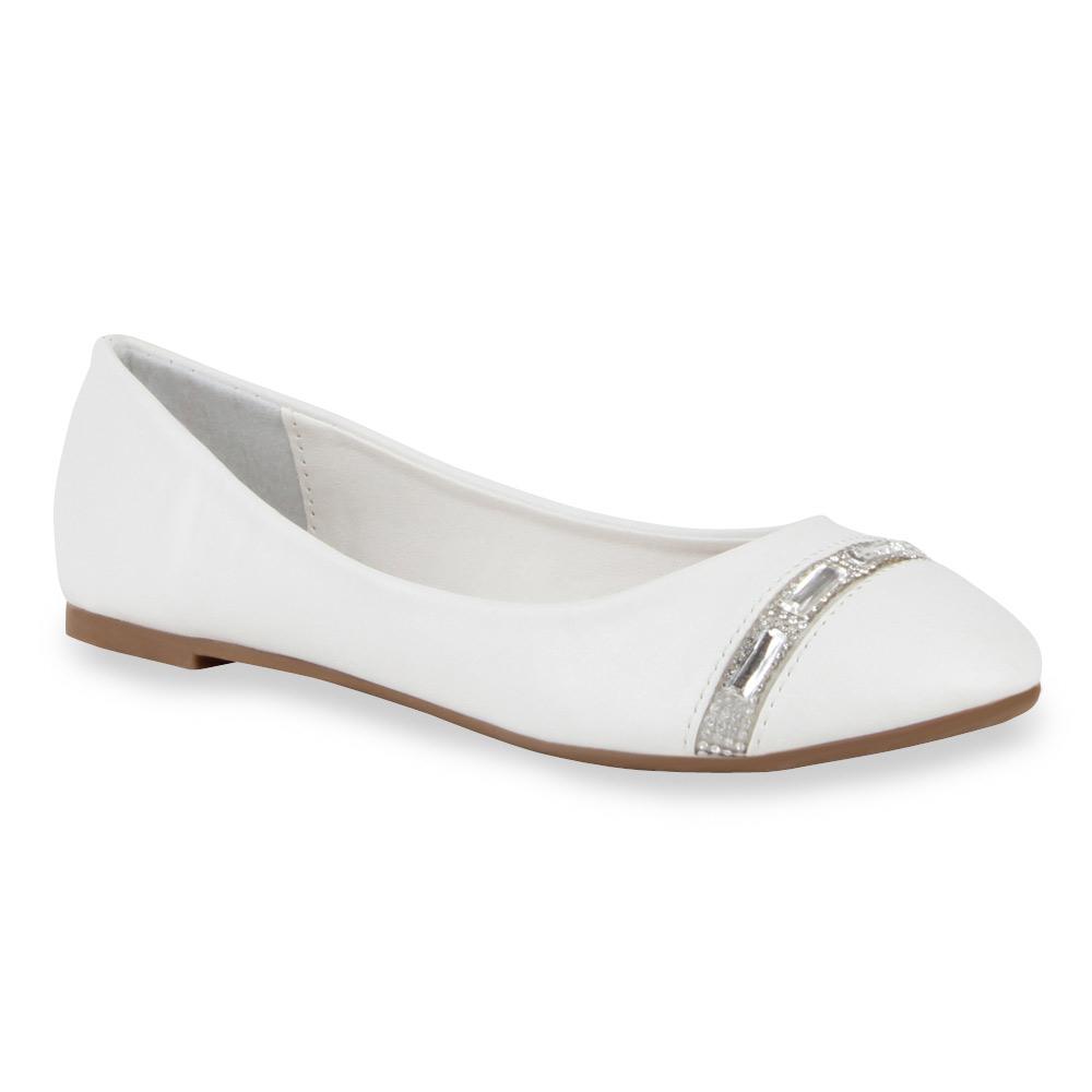 Damen Ballerinas Klassische Ballerinas - Weiß