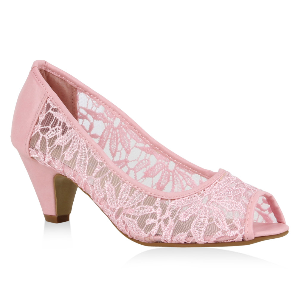 Damen Pumps Peeptoes - Rosa - Kaser