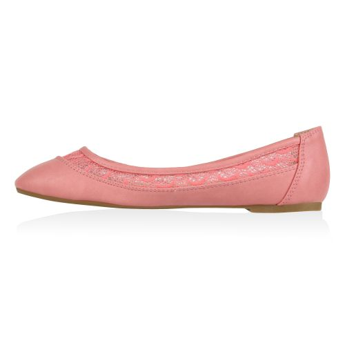 Damen Ballerinas Klassische Ballerinas - Rosa - Holly