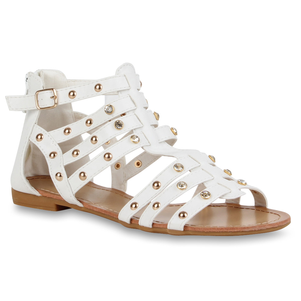 Damen Sandalen Römersandalen - Weiß