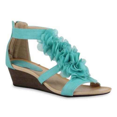 Damen Sandaletten Türkis Keilsandaletten Damen Sandaletten QWrdBoeCx