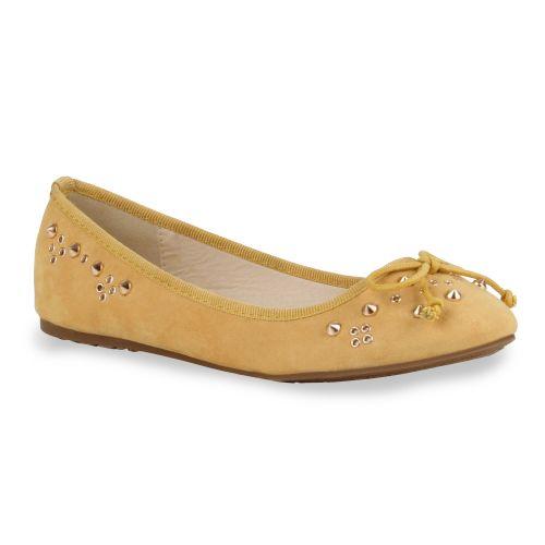 Damen Ballerinas Klassische Ballerinas - Gelb