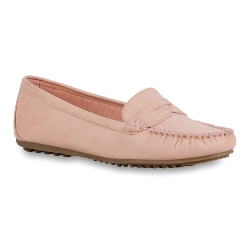 Damen Halbschuhe Mokassins - Rosa - New Sharon