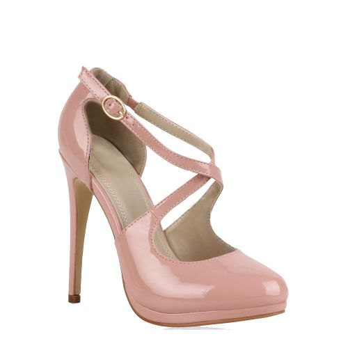 Damen Pumps Plateau Pumps - Rosa - Barrika