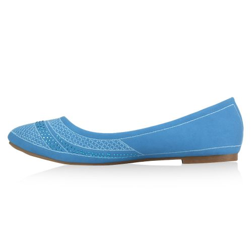Damen Ballerinas Klassische Ballerinas - Blau
