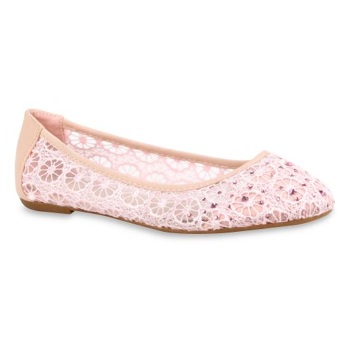 Damen Ballerinas Klassische Ballerinas - Rosa - Burntwood