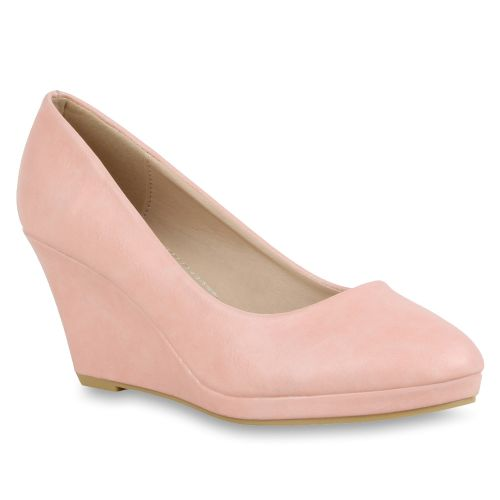Damen Pumps Plateau Pumps - Rosa - Crystal River