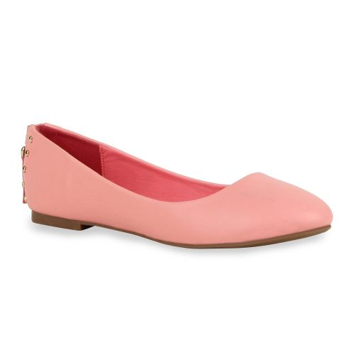 Damen Ballerinas Klassische Ballerinas - Rosa - Blackwood