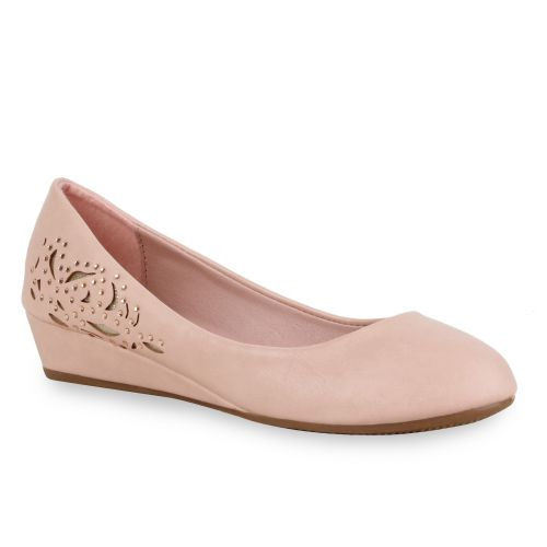 Damen Pumps Keilpumps - Rosa - Mojados