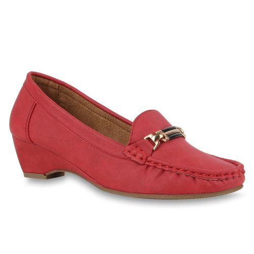 Damen Pumps Mokassins - Rot