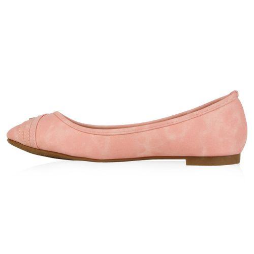 Damen Ballerinas Klassische Ballerinas - Rosa - Bevent