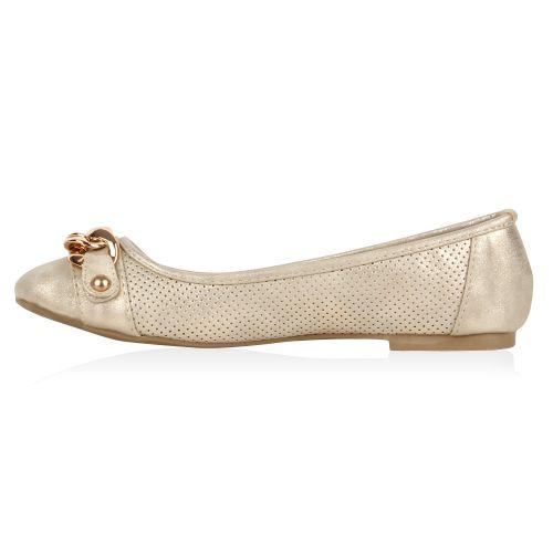 Damen Ballerinas Klassische Ballerinas - Gold