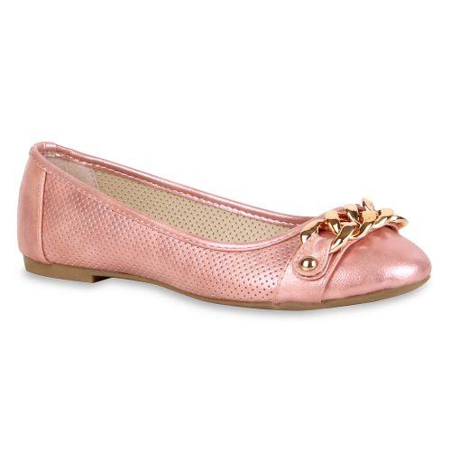 Damen Ballerinas Klassische Ballerinas - Rosa - Berkeley