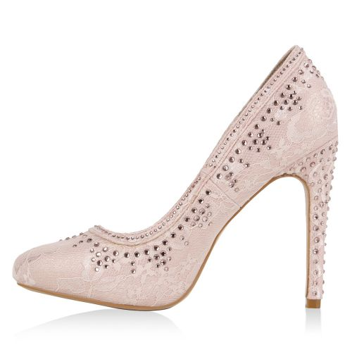 Damen Pumps High Heels - Rosa - Sandy Springs