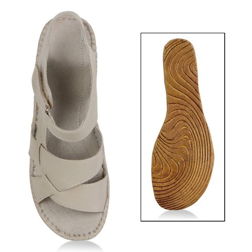 Damen Sandalen Komfort Sandalen - Beige