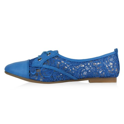 Damen Halbschuhe Brogues - Blau