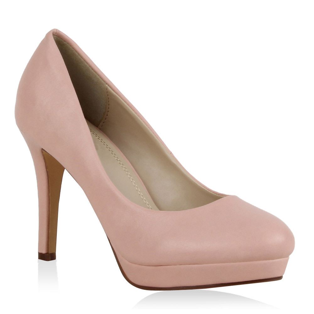 Damen Pumps Plateau Pumps - Rosa - Dupont
