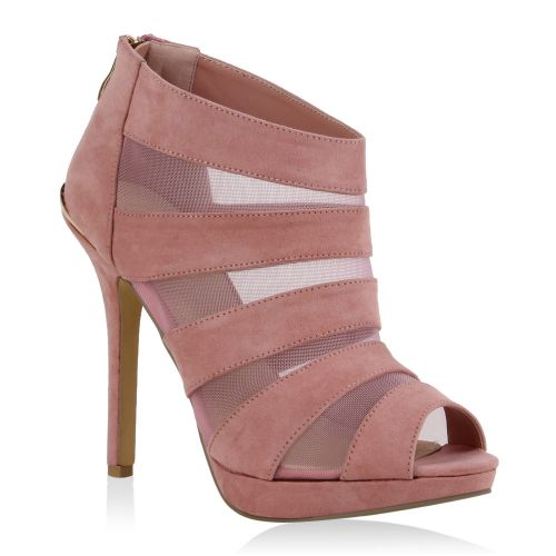 Damen Sandaletten Schaft Sandaletten - Rosa - Streator