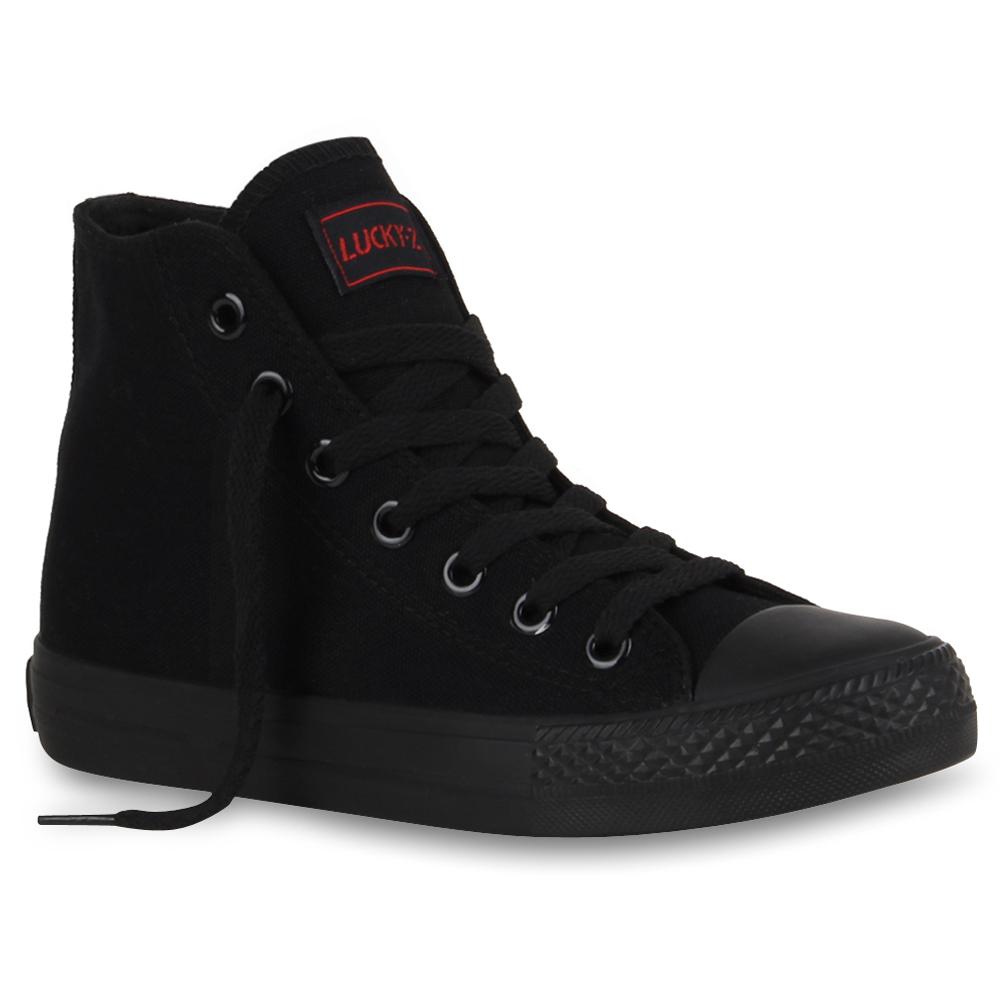 Damen Sneaker high - Schwarz Basic