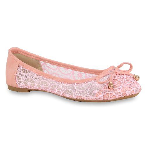 Damen Ballerinas Klassische Ballerinas - Rosa - Tauste