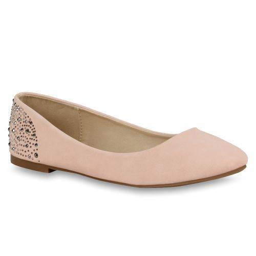 Damen Ballerinas Klassische Ballerinas - Rosa - Gateway