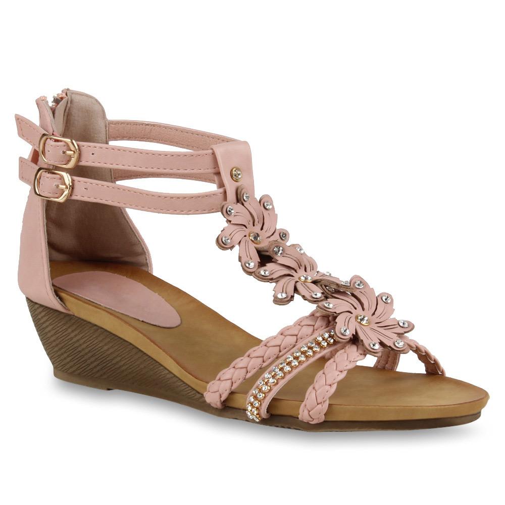 Damen Sandaletten Keil Sandaletten - Rosa - Giddings
