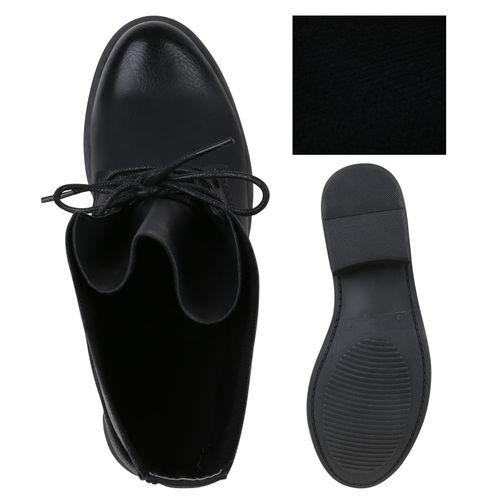 Damen Schnürstiefeletten - Schwarz
