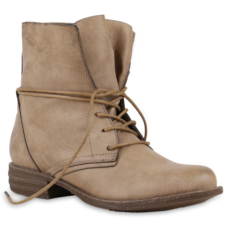 Damen Schnürstiefeletten - Khaki