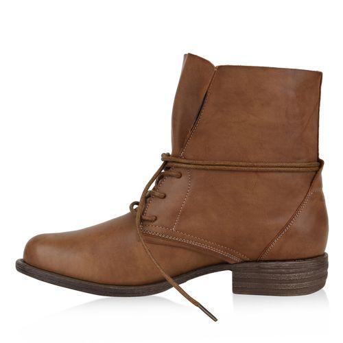 Damen Schnürstiefeletten - Hellbraun