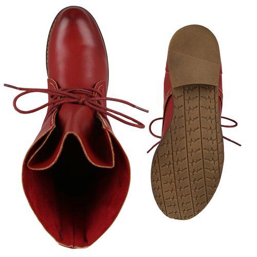 Damen Schnürstiefeletten - Rot