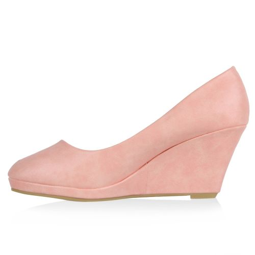 Damen Pumps Plateau Pumps - Rosa - Brentwood