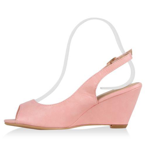 Damen Sandaletten High Heels - Rosa - Los Lunas